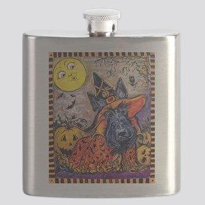 Scottie Halloween Witch Flask