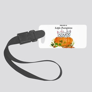 2008 Moms little pumpkins Small Luggage Tag