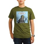 Radioactive Spider Bite Organic Men's T-Shirt (dar