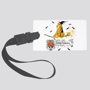 Halloween Airedale Large Luggage Tag