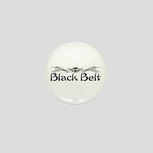 Martial Arts Black Belt Mini Button