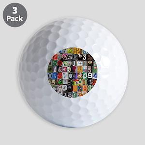 Pi Places Golf Balls