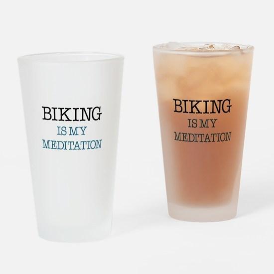 Biking is my Meditation Drinking Glass