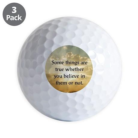 Truth Golf Balls