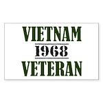 VIETNAM VETERAN 68 Sticker (Rectangle)
