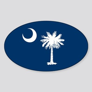SC Palmetto Flag Sticker (Oval)