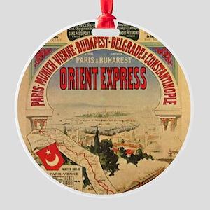 Orient Express Round Ornament