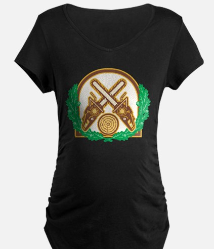Crossed Chainsaw Timber Wood Leaf T-Shirt