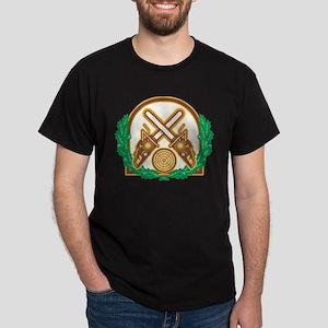 Crossed Chainsaw Timber Wood Leaf Dark T-Shirt