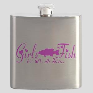 GIRLS BASS FISH Flask