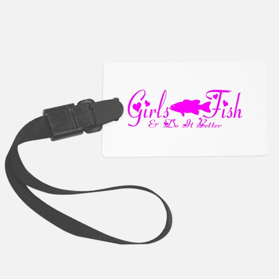 GIRLS BASS FISH Luggage Tag