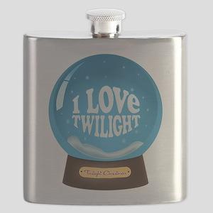 I Love Twilight Snowglobe Ornament Flask