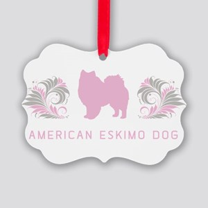 21-pinkgray Picture Ornament