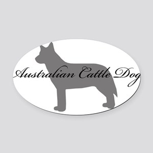 11-greysilhouette Oval Car Magnet