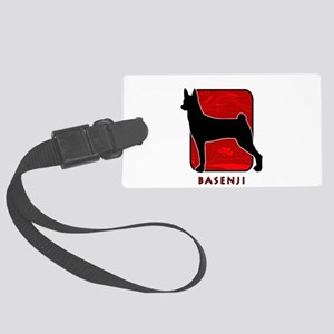 11-redsilhouette Large Luggage Tag