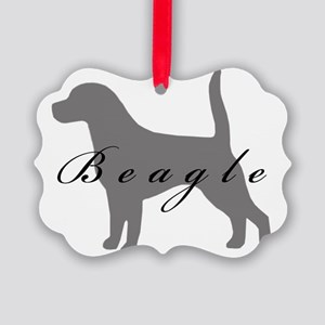 38-greysilhouette Picture Ornament