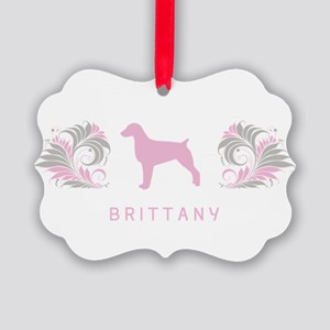 34-pinkgray Picture Ornament