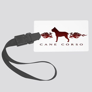 flames Large Luggage Tag