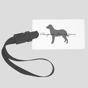5-greysilhouette Large Luggage Tag