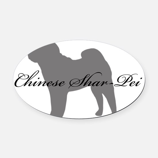 7-greysilhouette.png Oval Car Magnet