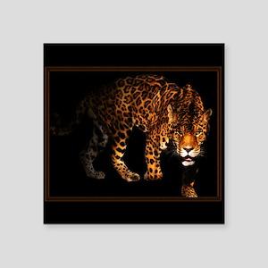"jaguar Square Sticker 3"" x 3"""