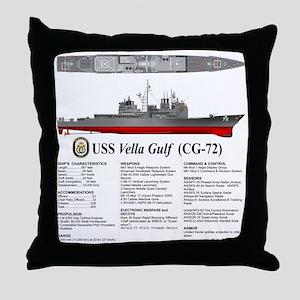 USS Vella Gulf CG-72 Throw Pillow