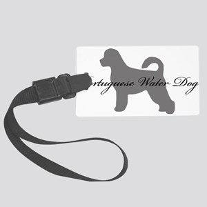 19-greysilhouette2 Large Luggage Tag