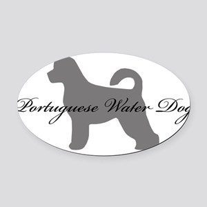 19-greysilhouette2 Oval Car Magnet