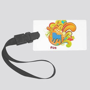 8-retro Large Luggage Tag