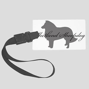 6-greysilhouette2 Large Luggage Tag