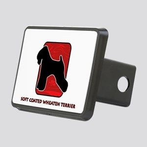 12-redsilhouette Rectangular Hitch Cover
