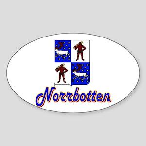 Norrbotten County Oval Sticker