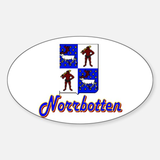 Norrbotten County Oval Decal