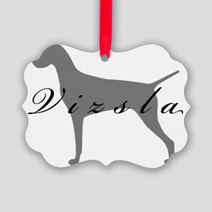 21-greysilhouette2 Picture Ornament