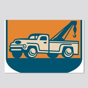 Vintage Tow Wrecker Pick-up Truck Postcards (Packa