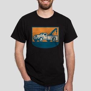 Vintage Tow Wrecker Pick-up Truck Dark T-Shirt