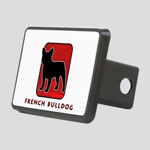18-redsilhouette Rectangular Hitch Cover