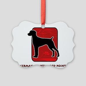 20-redsilhouette Picture Ornament