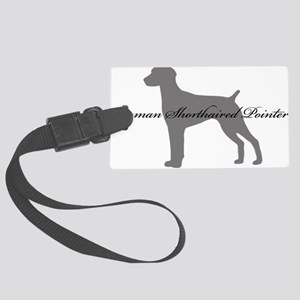 3-greysilhouette2 Large Luggage Tag