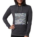 Geometric Grid of Colors Womens Hooded Shirt