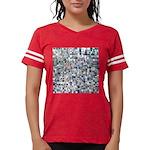 Geometric Grid of Colors Womens Football Shirt