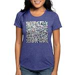 Geometric Grid of Colors Womens Tri-blend T-Shirt