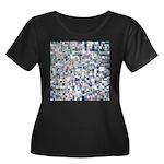 Geometric Grid of Colors Plus Size T-Shirt