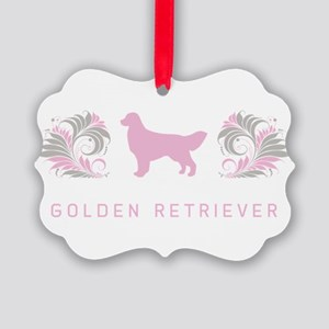 14-pinkgray Picture Ornament