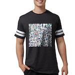 Geometric Grid of Colors Mens Football Shirt