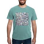 Geometric Grid of Colors Mens Comfort Colors Shirt