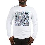 Geometric Grid of Colors Long Sleeve T-Shirt