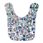 Geometric Grid of Colors Polyester Baby Bib