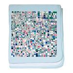 Geometric Grid of Colors baby blanket