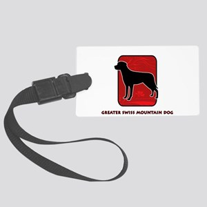 26-redsilhouette Large Luggage Tag
